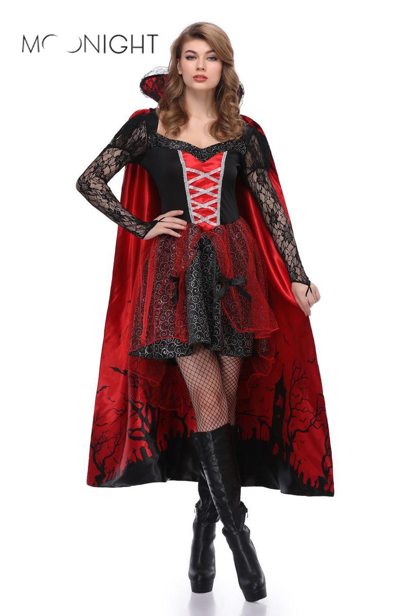 MOONIGHT nuevo vestido uniformes Reina Bruja brujeria disfraz de Halloween vestido de fiesta