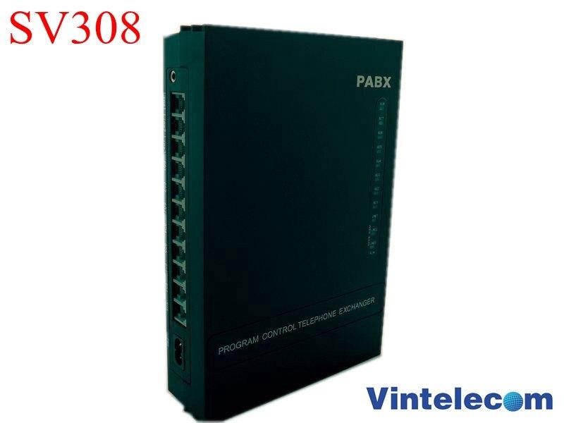 مصنع فينوم باكس الصيني SV308 (3 خطوط + 8ext.) نظام الهاتف PBX لنظام مكتب سوهو
