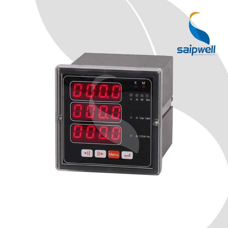 Medidor de potencia Digital LED de 72 tipos de tres fases eléctrico multifunción/3 filas (SP-72E)