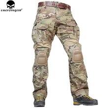 Pantalones de combate EMERSONGEAR G3, pantalones de caza militares del Ejército, pantalones tácticos Airsoft Emerson Multicam con rodilleras, pantalones Multicam