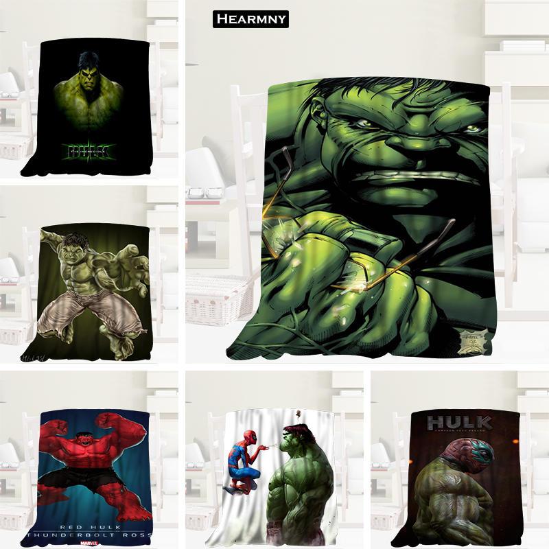 Manta personalizada de la serie Hero Hulk, Manta de franela Manta para sofá/cama de viaje de 80X150cm, 100x 125cm,125X150cm
