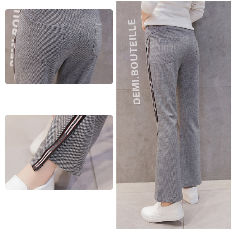 Emotion Moms Autumn Maternity Pants High Waist Belly Casual Maternity Clothes Pants for Pregnant Women Pregnancy Trousers enlarge
