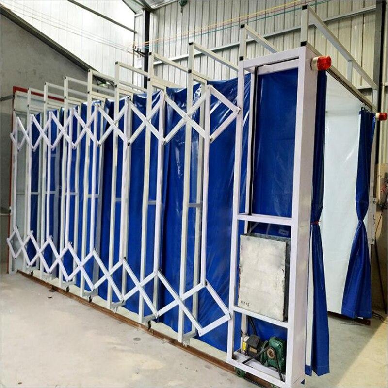 Cabina para rociado automático telescópico de gran pieza de trabajo para sala de expansión móvil de Tipo de carril