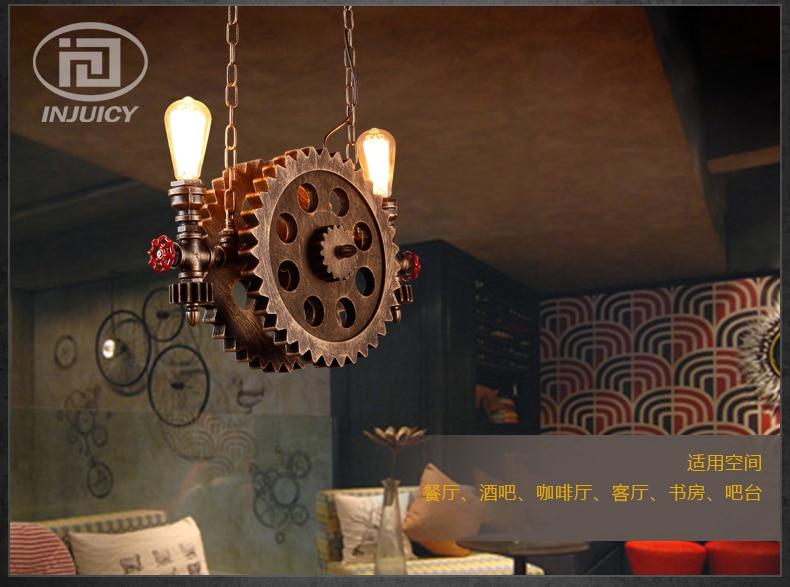 Loft Nordic Vintage American Industrial Gear Lighting Iron Pendant Lamp For Corridor Aisle Restaurant Bar Coffee Shop Hall