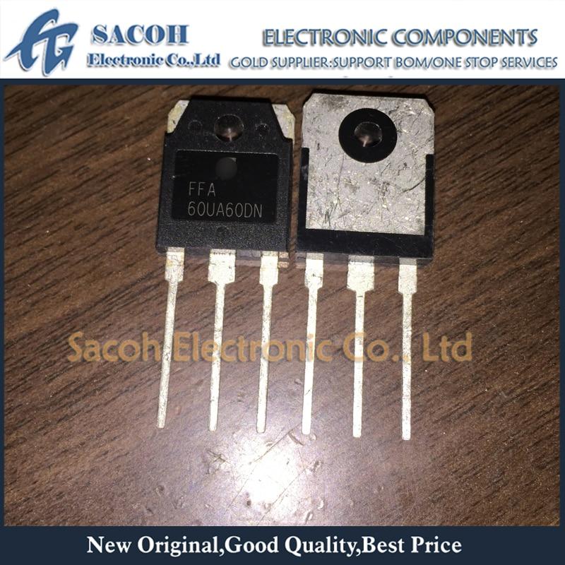 Envío gratis 10 Uds FFA60UA60DN F60UA60DN TO-3P 60A 600V ultrarápido diodo rectificador de recuperación