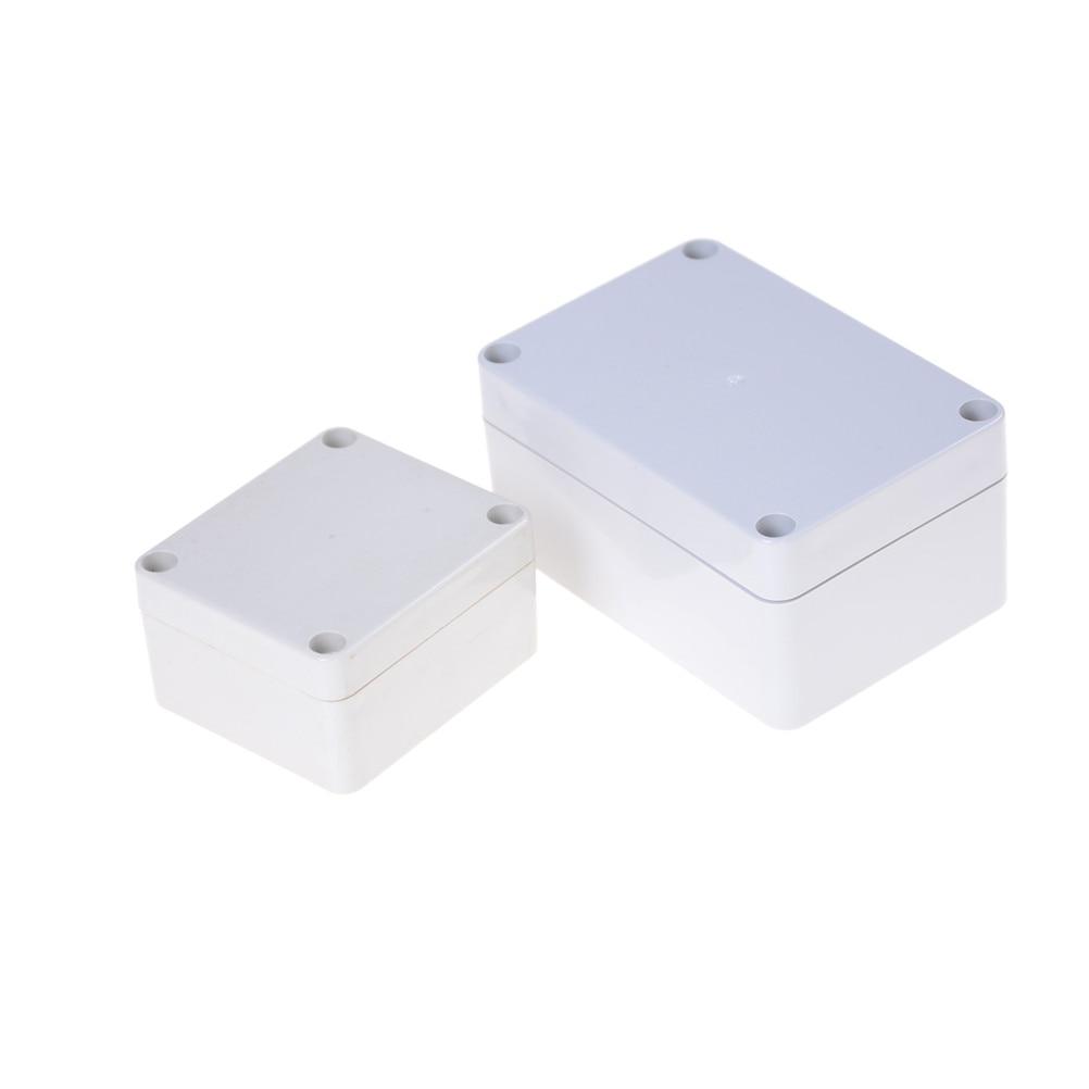 1 pc diy caixa de gabinete à prova ddiy água plástico eletrônico projeto instrumento caixa de junção ao ar livre habitação