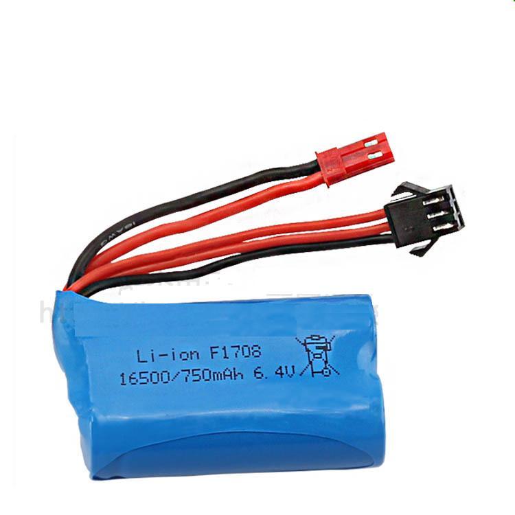 Yukala wltoys A959-A 969-a 979-a K929-A 2.4g rc caminhão 6.4 v 750 mah li-ion bateria 6.4 v 750 mah pçs/lote