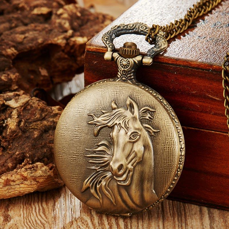 Reloj de bolsillo de cuarzo para hombre, reloj Retro para hombre, collar, cadena colgante, mejores regalos