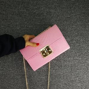 Alligator Leather Messenger Crossbody Bag Women Chain Bags Mini Small Purse And Handbags Fashion Lady Shoulder Bags