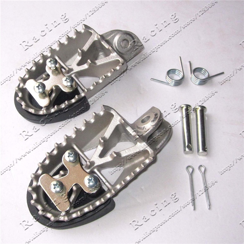 Reposapiés de acero inoxidable de alta calidad, clavijas de pie para moto de cross, Pit Bike MX Motorcross