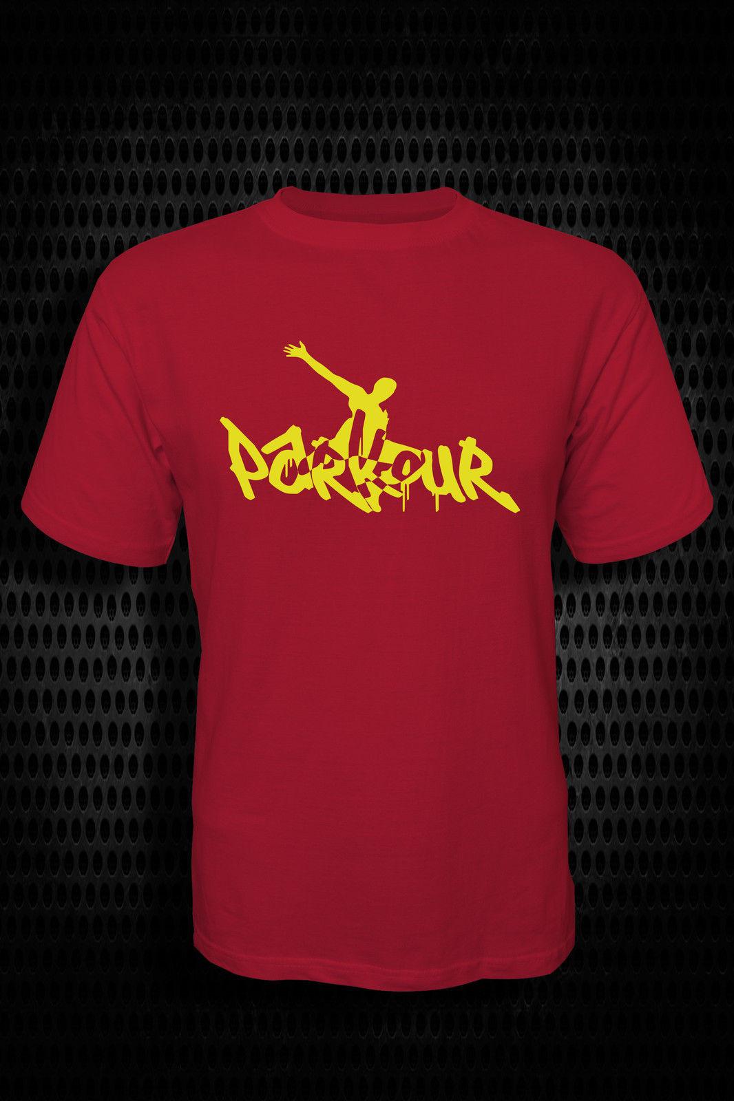 Se pudra Parkour Klettern Frei Laufen Schwingend surgido urbano Herren Casual más tamaño camisetas estilo Hip Hop Tops Tee S-2Xl T camisas