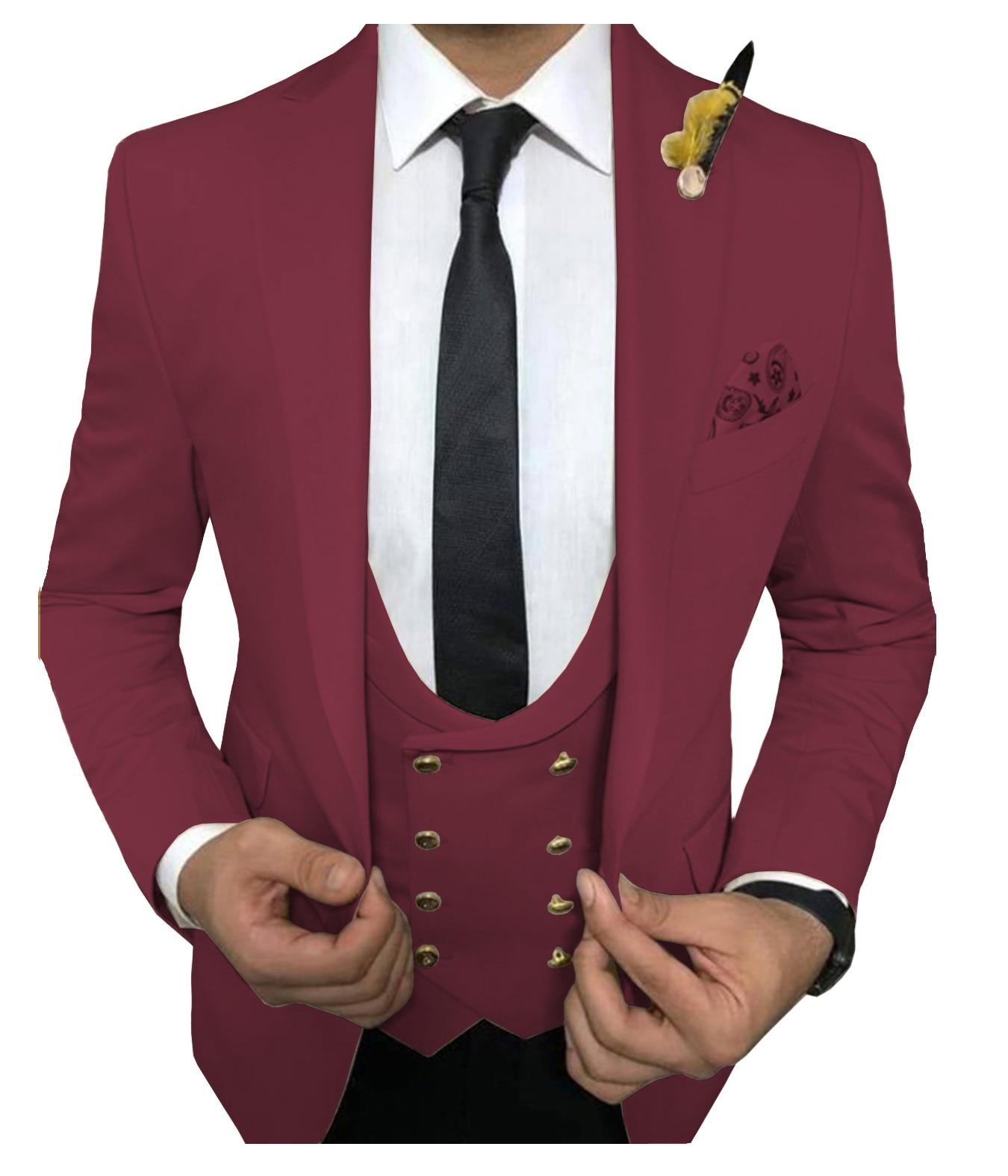 بدلة رسمية رجالية من 3 قطع, ضيقة و راقية ، مناسبة للعريس و لحضور حفلات الزفاف ، باللون الأخضر و الرمادي ، تتكون من سترة و صدرية و سروال