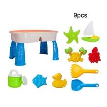9 Uds. Juego de arena de juguete del espacio para niños mesa de playa molde de arcilla de arena herramientas de pala de excavación juguetes para arena de playa juguete para jugar al agua