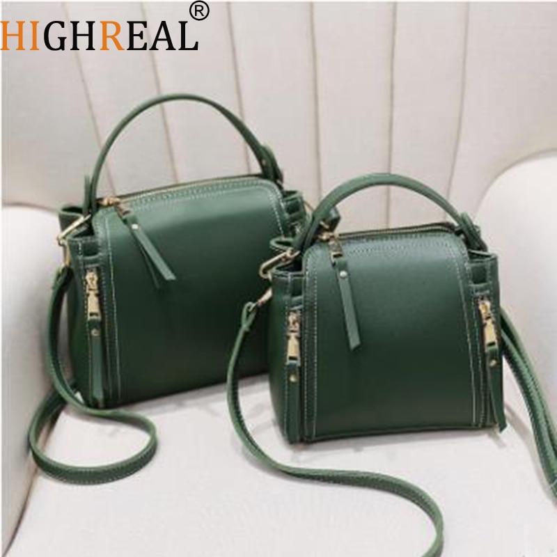 HIGHREAL Small Mini Bucket Women Messenger Bags Designer Crossbody Bags Green Shoulder Bags Female Fashion Korean Drop Shipping