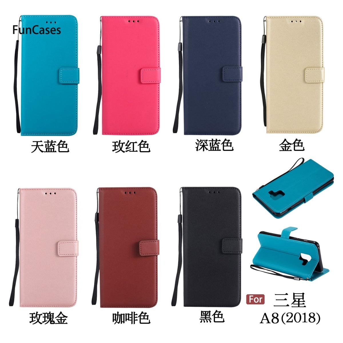Funda de teléfono con cartera Multicolor para Samsung A8 2018, Carcasa trasera...