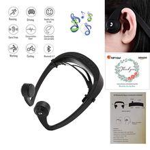 Écouteurs à Conduction osseuse, Casque Sans Fil Bluetooth Sport Écouteurs Étanches Micro Intégré pour iPhone X 8 8plus 7 7plu