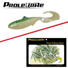 50 uds/4,5 cm 1g falso pez señuelo artificial blando suave gusanos para pesca señuelos realistas peces pequeños mezcla ganchos de manivela pesca