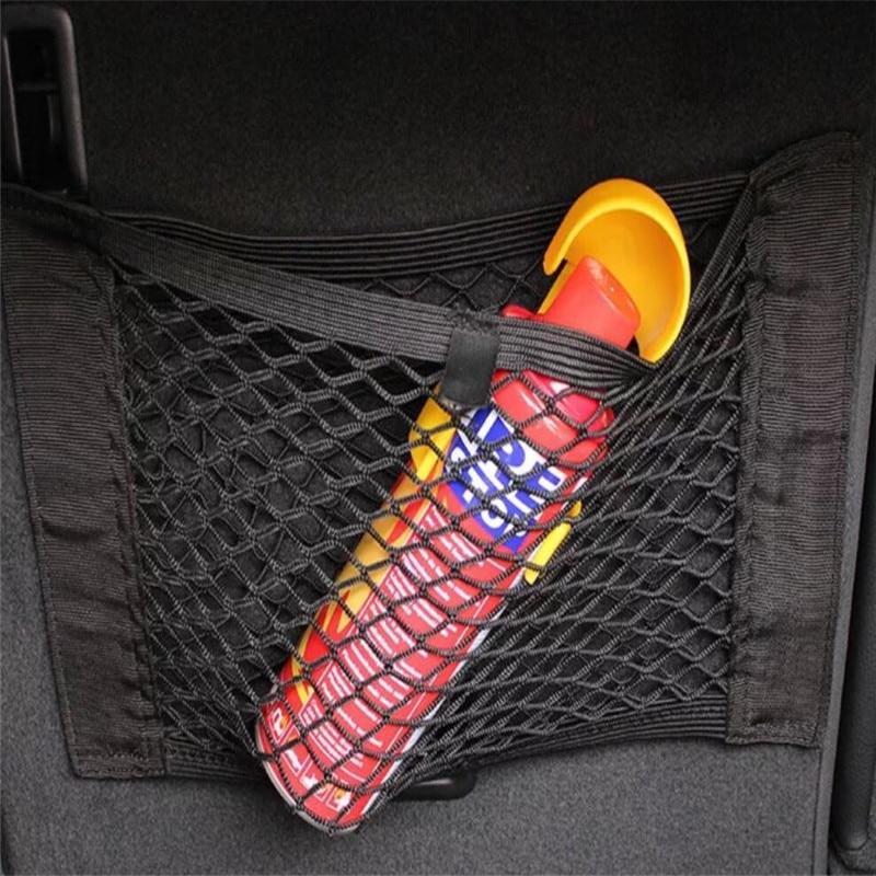 Universal asiento de seguridad de malla elástica bolsa de red para Volkswagen VW POLO de Golf a 4 6 Golf 7 CC Tiguan Passat B5 B6 Jetta