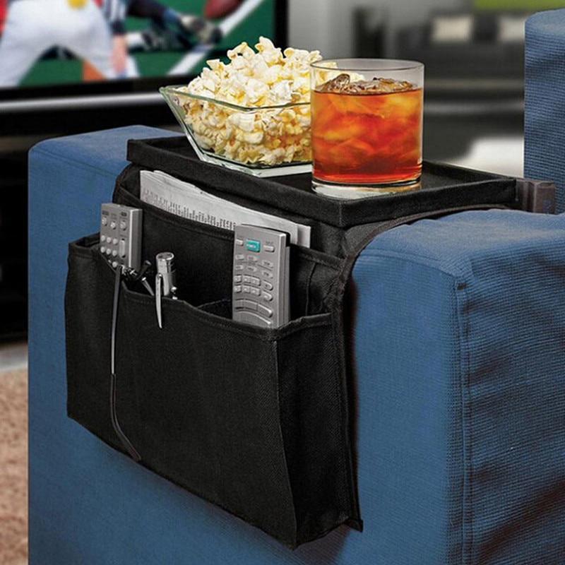 6 Pocket Sofa Handrail Storage Bags Couch Armrest Arm Rest Organizer Remote Control Holder Bag Organizer Housekeeping Bag