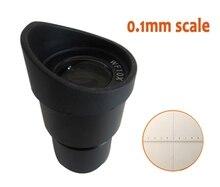 1 шт. WF10x широкоугольный 20 мм стерео микроскоп окуляр объектив 30 мм с резиновыми защитные очки и градуированная сетка масштабирования линейк...