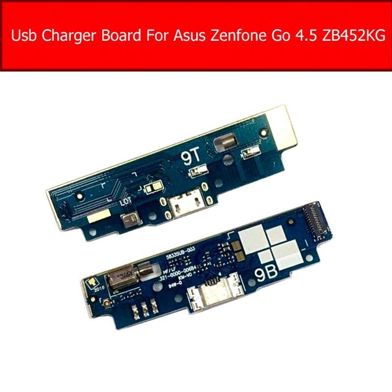 Placa de Jack De Carregamento USB Dock Para ASUS Zenfone GO 4.5 polegada ZB452KG X014D USB Charger Porto Flex Cable Substituição Da Placa partes