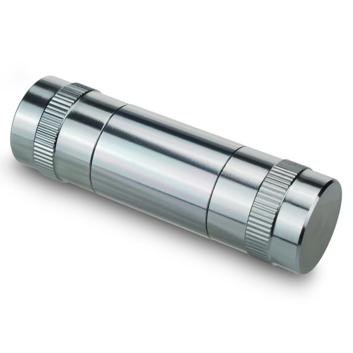 Formax420  20mm X 68mm 5 Parts Metal Stainless Steel Pollen Presser Mini Hand Pocket Tobacco Crusher Compressor enlarge