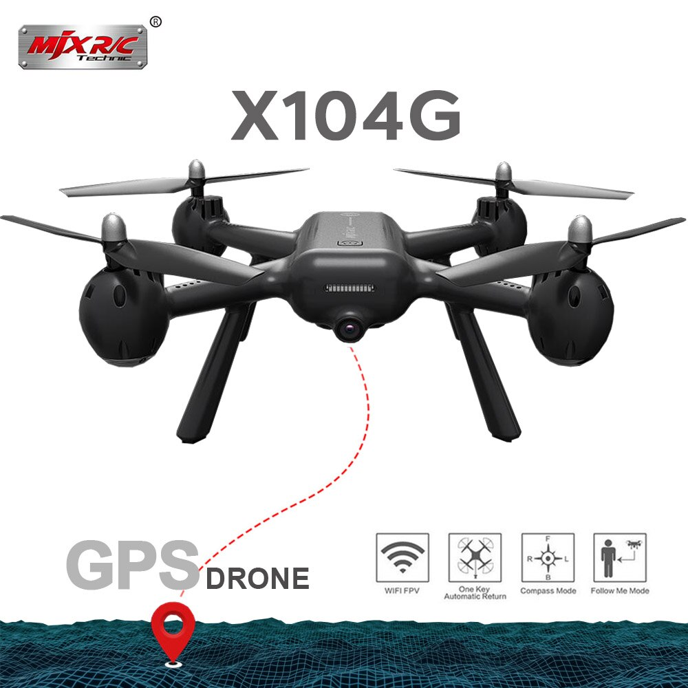 2019 nuevo MJX X104G hueco taza Motor GPS Drone RC Drone con 5G WIFI FPV HD Cámara RC Quadcopter del z5 RC helicóptero juguetes Venta caliente