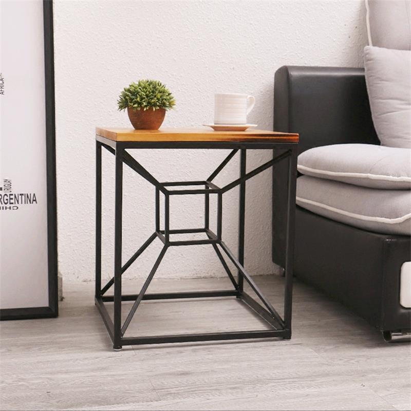 Индивидуальный квадратный металлический чайный столик Уникальный креативный