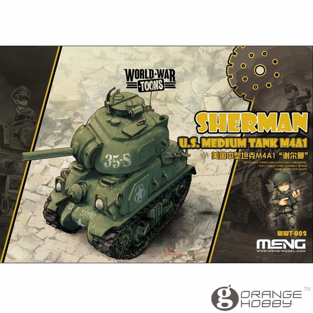 OHS Meng WWT002 Q Versin Sherman U.S. Medium Tank M4A1 Assembly Model Building Kits oh