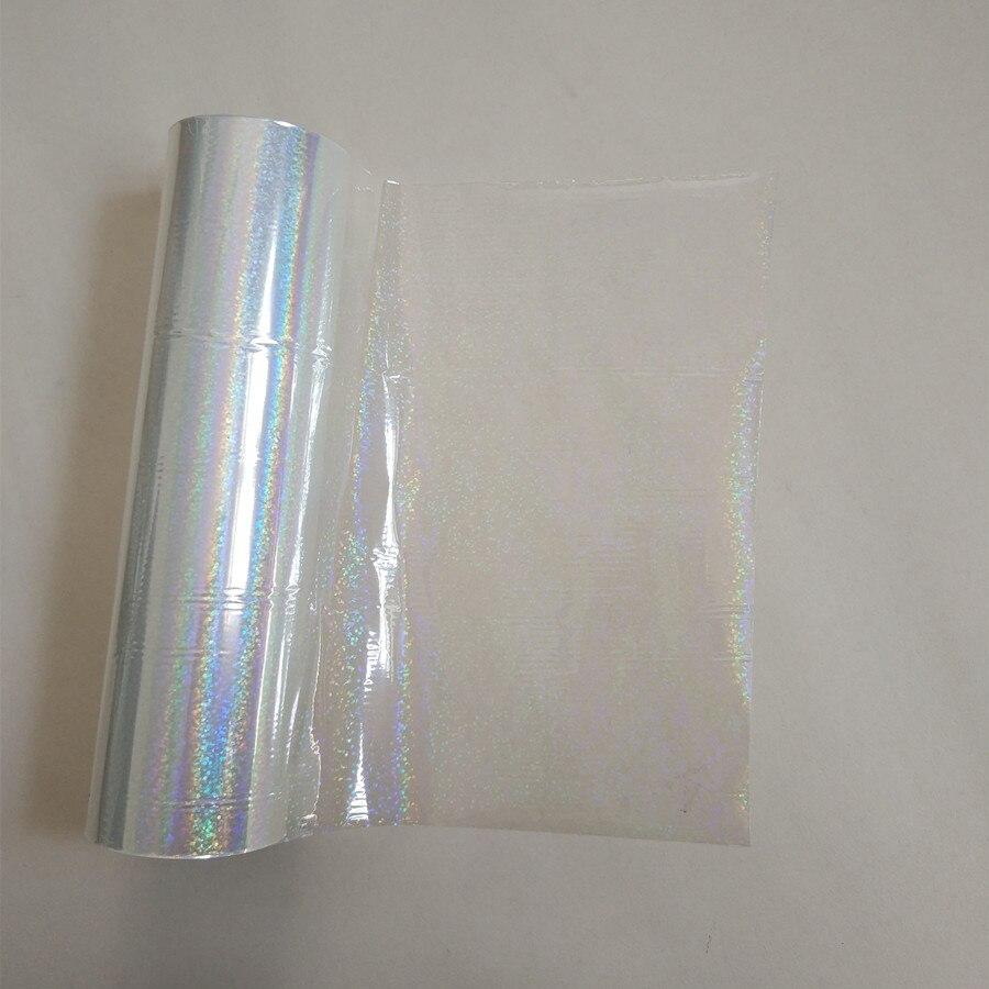Holographische folie transparent Kristall punkt muster stanzen folie heißer drücken sie auf papier oder kunststoff transfer film