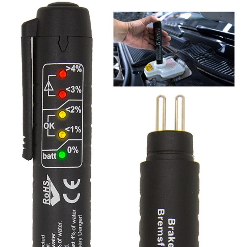 Универсальная автомобильная ручка для проверки жидкости для тормозов автомобиля цифровой тестер для Volkswagen VW Golf 4 6 7 GTI Tiguan Passat B5 B6 B7 CC Jetta