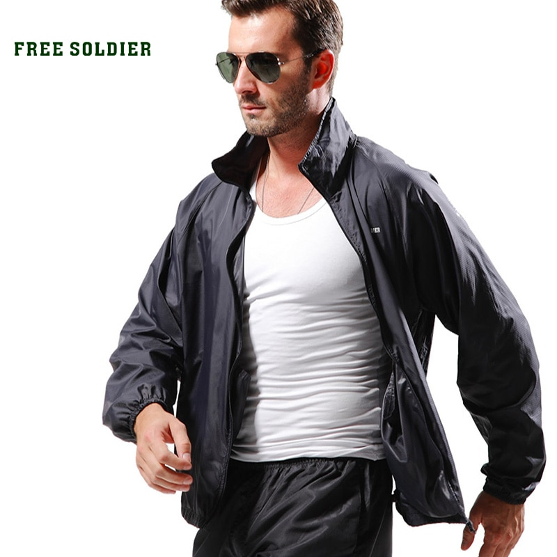 Soldado libre camping al aire libre táctico piel Primavera Verano transpirable ultra fino de secado rápido piel gabardina chaqueta de hombre