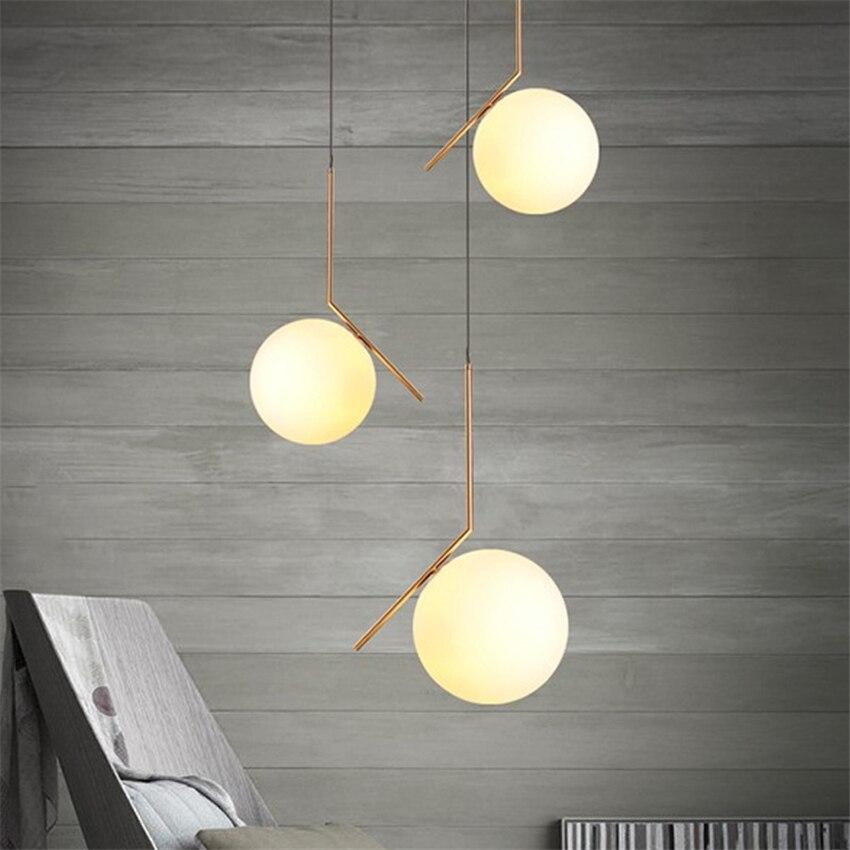 Lámpara LED moderna, lámpara colgante de bola de cristal, accesorios para comedor, dormitorio, habitación, zócalo para lámpara, lámpara colgante, luminaria