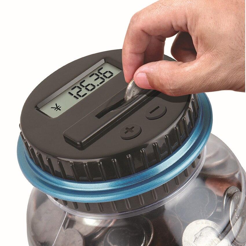 Mealheiro Para Dinheiro USD Com Display LCD Grande Eletrônico Digital de Contagem Coin Bank Money Saving Box Jar criança cabrito presente