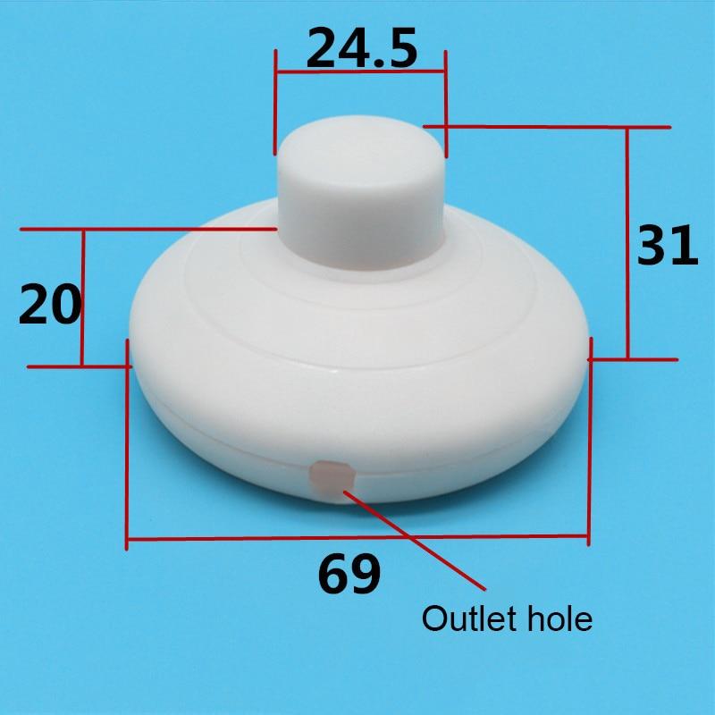 Interruptor de pie de aterrizaje en/de la mitad ronda botón interruptor de Pedal para lámpara LED QJ888