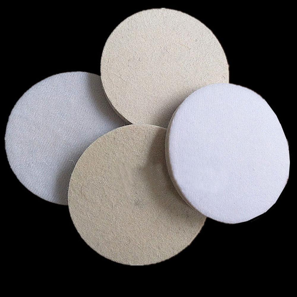 3 pulgadas 75mm Discos de pulir lana de amortiguación almohadillas de pulido disco hojas polaco disco para perforación