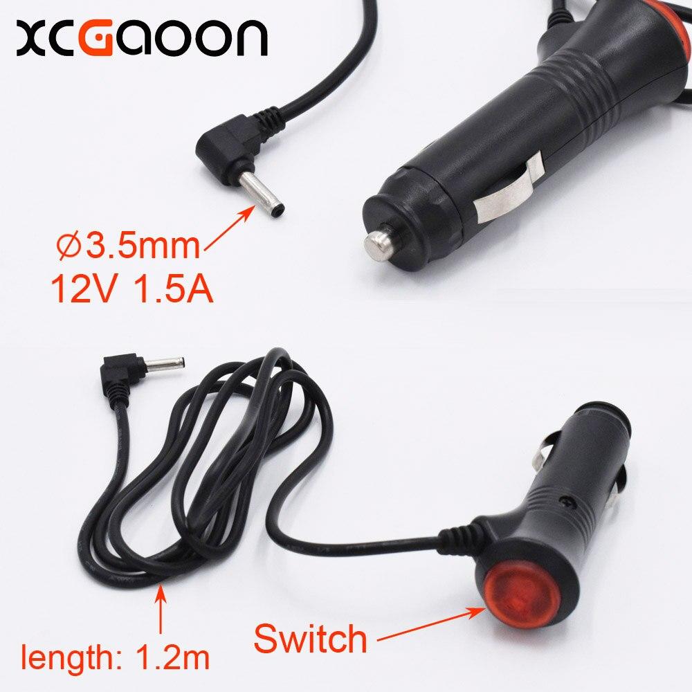 XCGaoon-chargeur de voiture à Port   3.5mm, pour détecteur de Radar de voiture/caméra DVR de voiture, entrée 12V, sortie 12V 1,5a, convient pour voiture DC 12V, longueur 1.2m