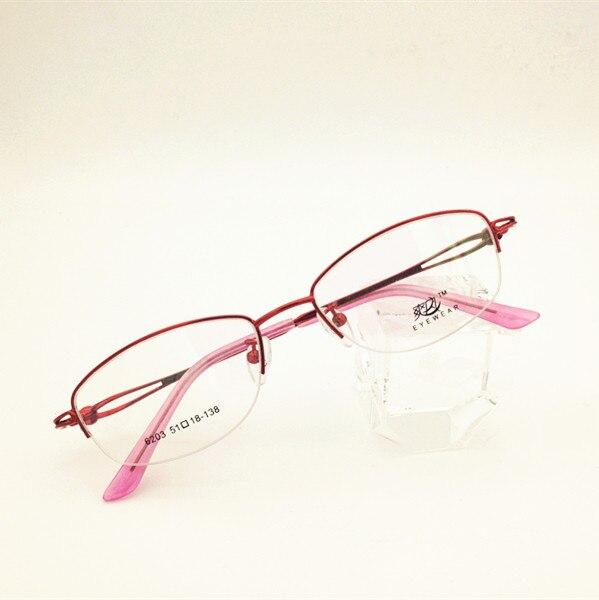 Eyesilove fashion women myopia glasses customized myopia eyeglasses half-rim frame prescription glas