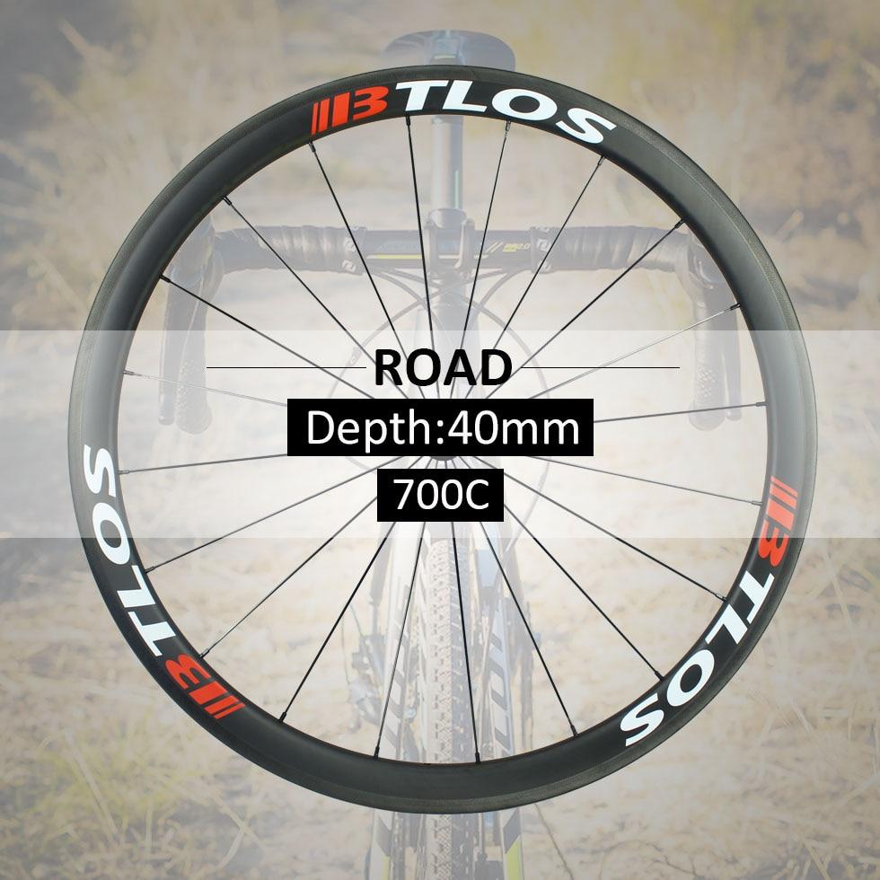 Juego de ruedas 700c ruedas de carbono clincher bicicleta de carretera 700c 40mm freno de disco profundo disponible-WRC-40