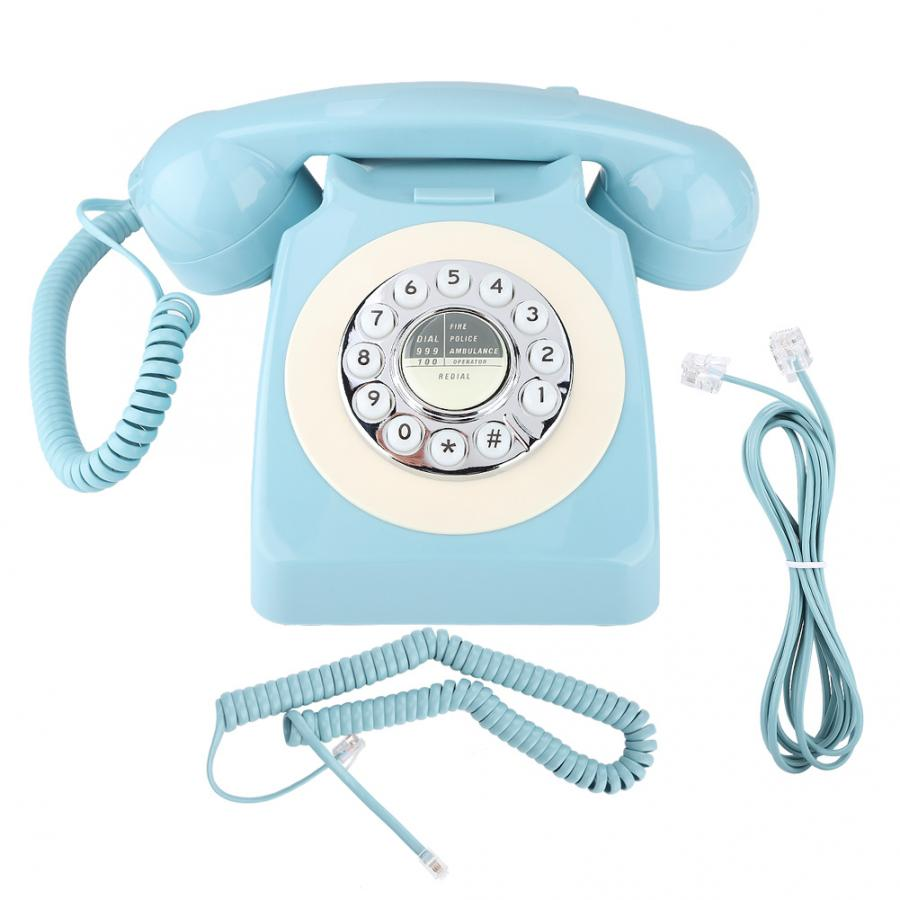 MS-300 teléfono fijo de oficina estilo Retro decoración del hogar interferencias antielectromagnéticas teléfono portátil teléfono fijo