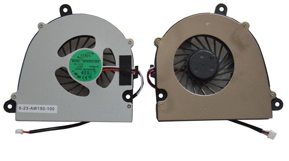 SSEA nuevo ventilador de CPU para Clevo W110 W110ER W150 W150HR W170 ventilador de refrigeración de la CPU del ordenador portátil 6-23-AW150-100