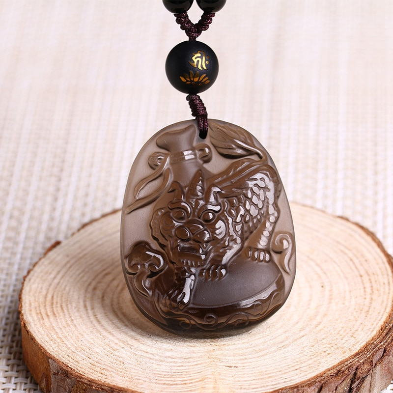 Fu Niu return obsidian pendant is a snake 2017 lucky mascot...