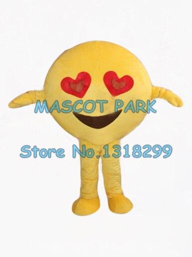 Mascote rosto feliz mascote traje de boa qualidade entrega rápida tema do amor feliz anime cosplay trajes carnaval fantasia dres kits