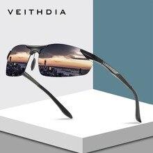 Gafas de sol polarizadas de aluminio marca VEITHDIA, gafas de sol deportivas para hombre, gafas para conducir, gafas, gafas, accesorios masculinos, gafas 6529