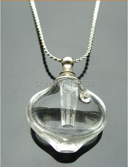 50pcs/lot transparent little heart Glass Vial Pendant Name on Rice charm Pendant DIY essential oil pendant Wish Pendant