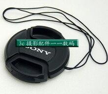 3pcs 40.5 49 52 55 58mm Center Pinch Snap-on Front Lens Cap hood Cover for a mount DSLR Alpha a7 a9 a58 a7r2 a550