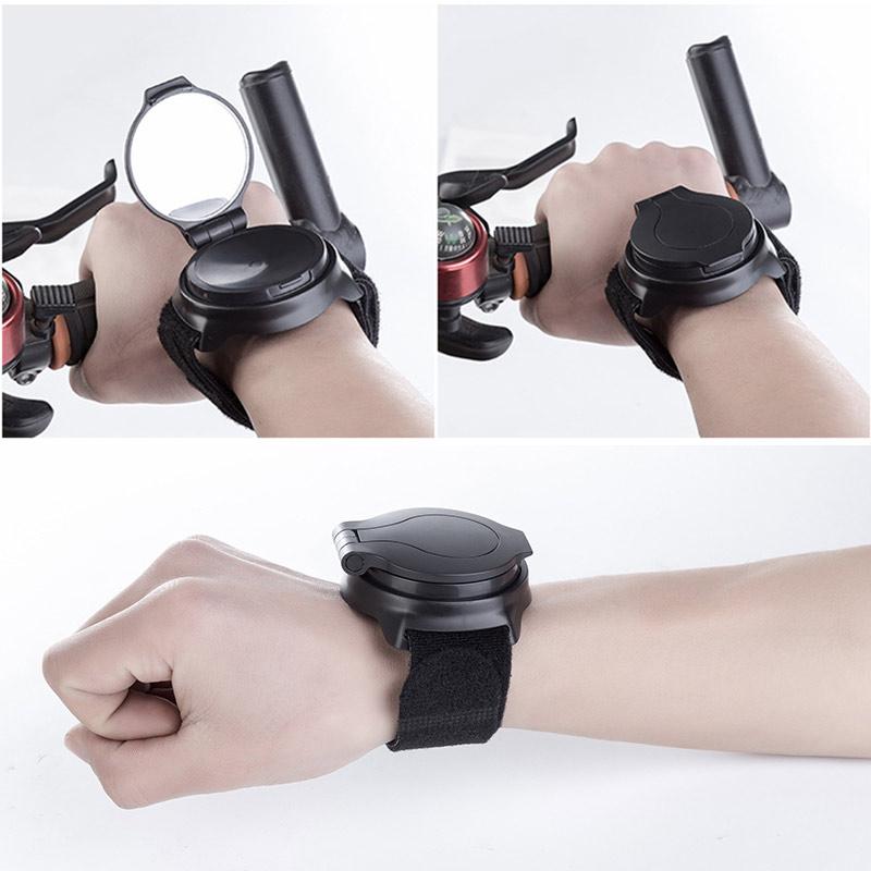 Bicycle Wrist Mirror Bike Hand Rearview Mirrors 360 Degree Rotate Cycling Safety MTB Road Bike Wrist Reflector Back Wrist Mirror