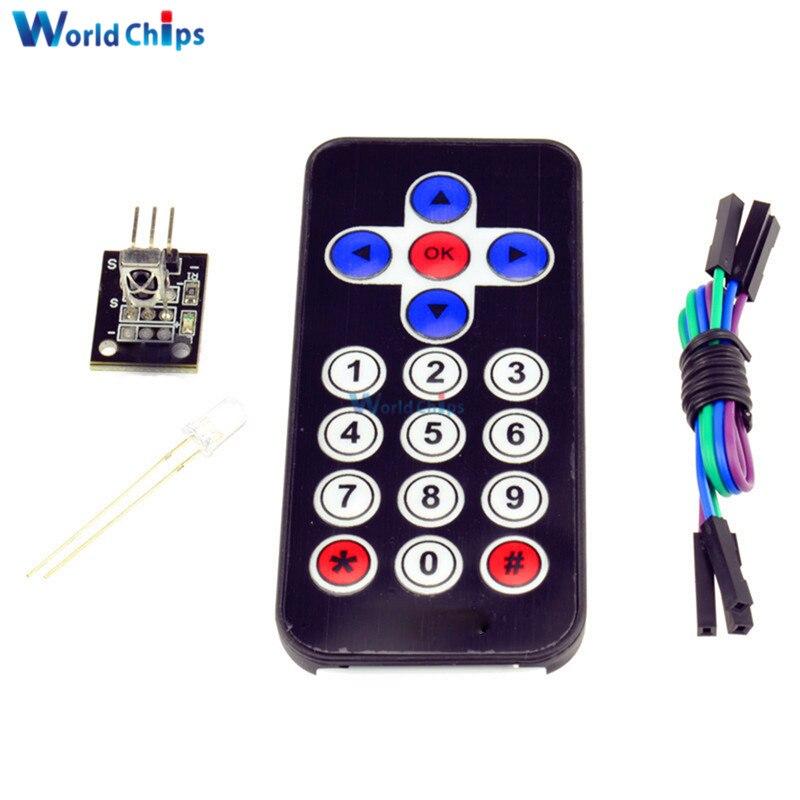 1 Set Infrared Remote Control IR Receiver Module Kits DIY Kit HX1838 For Arduino Raspberry Pi