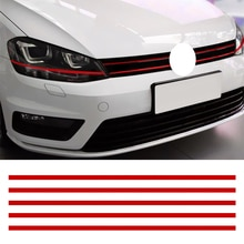 Leepee Auto Strip Sticker Reflecterende Stickers Motorkap Grille Decals Auto Styling Auto Decoratie Voor Vw Golf 6 7 Tiguan