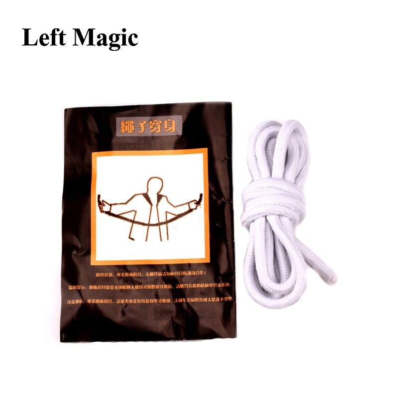 Cuerda a través del cuerpo trucos de magia Primer plano etapa cuerda magia ilusión accesorios mago accesorios para trucos mentalismo comedia